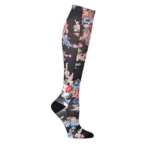 Celeste Stein Women's Regular Calf and Wide Calf Mild Compression Knee High Socks
