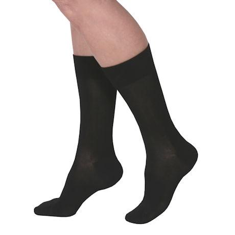 Women's Luxury Diabetic Crew Length Socks - 3 Pack