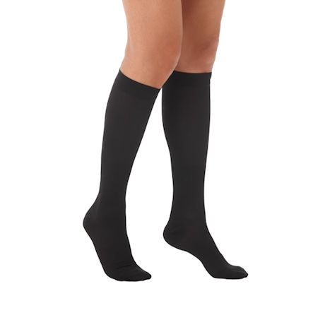 Women's Moderate Compression Knee High Stockings, Available in Black, Beige, Navy, White