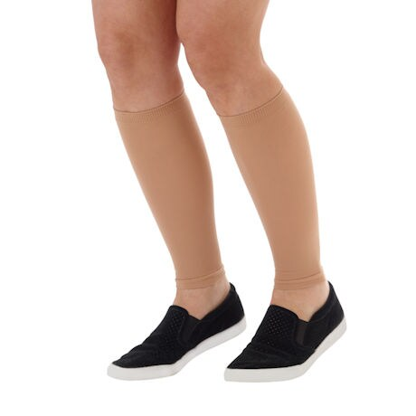 Women's Moderate Compression Knee High Calf Sleeves, Available in Black, Beige, White