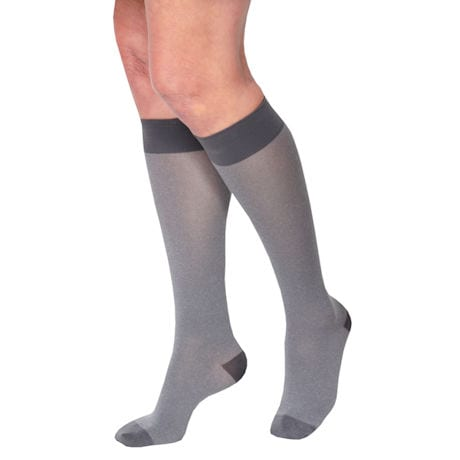 Women's Heather Moderate Compression Opaque Knee Highs