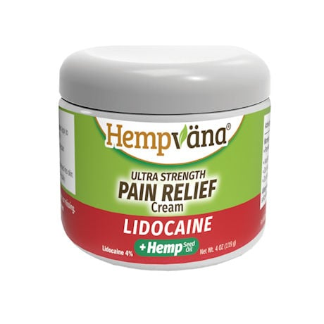Hempvana® Ultra Strength Pain Relief Cream with Lidocaine