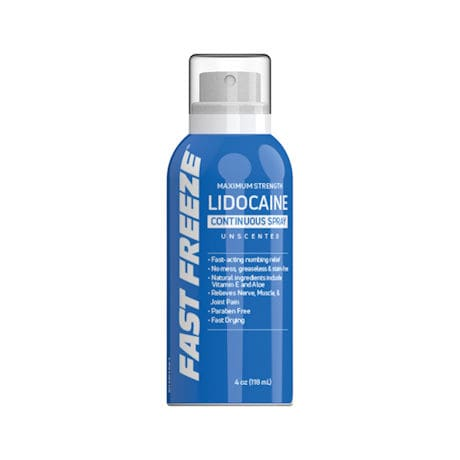 Fast Freeze Roll-On, 3 oz. and Continuous Spray. 4 oz.
