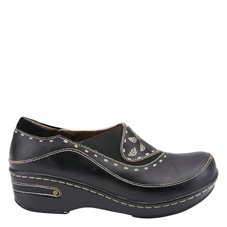 Closed-Back Leather Clog