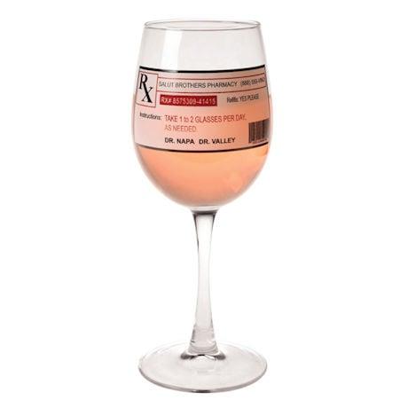 Funny Prescription Wine Glass - 8' holds 11 oz.