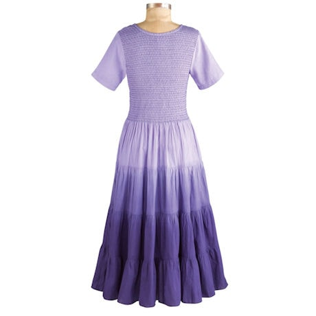 Purple Rainbow Ombre Dress