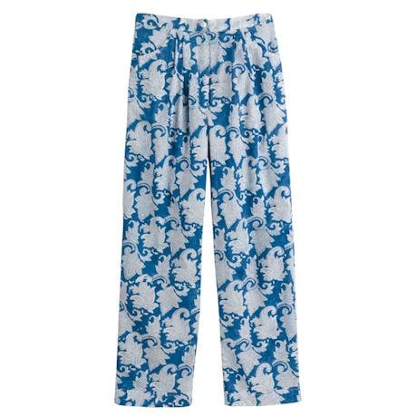Classic Blue & White Pajama Set