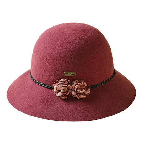 Rosebuds Felt Cloche
