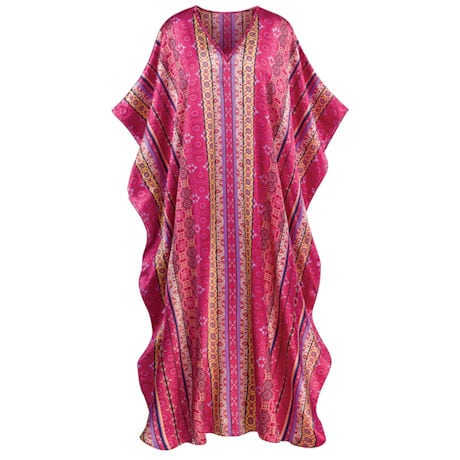 Pomegranate Stripe Caftan