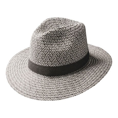 Salt And Pepper Herringbone Fedora