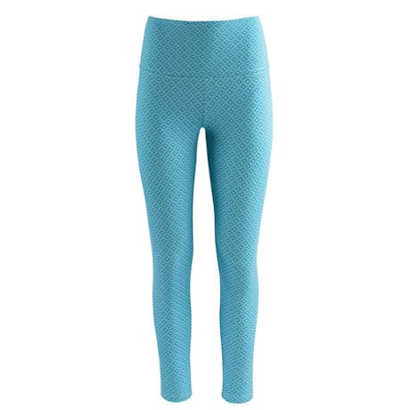 Tummy Control Diamond Print Weekend Leggings