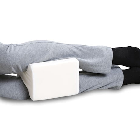Support Plus Orthopedic Knee Pillow - Memory Foam Side Sleeper Cushion & Cover