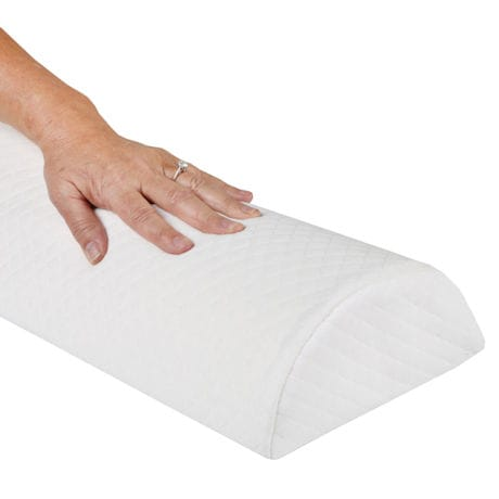 Support Plus Half-Moon Bolster Wedge Pillow - Memory Foam Cushion & Cover