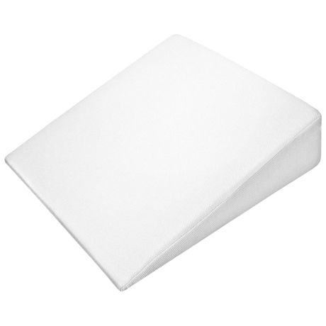 "Support Plus Bed Wedge Pillow - Memory Foam Cushion & Cover - Small - 8"" High"