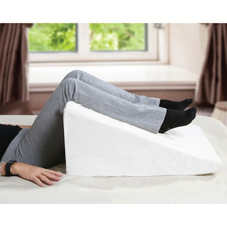 "Support Plus Bed Wedge Pillow - Memory Foam Cushion & Cover - Large 12.5"" High"