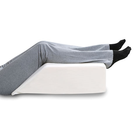 "Support Plus Elevated Leg Wedge Pillow - Memory Foam Cushion & Cover - 21"" Wide"