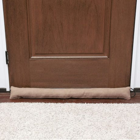 "Home District Faux Suede Draft Dodger with Handle - Weighted Door and Window Breeze Guard - 36"" Long"