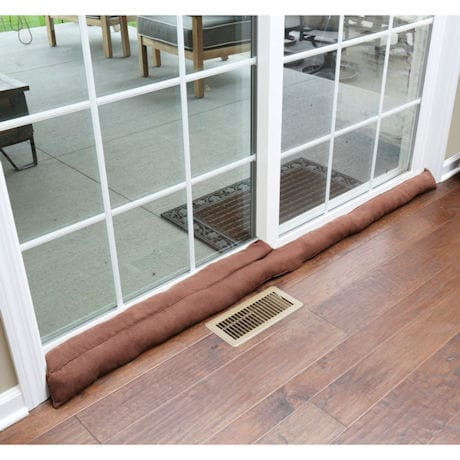 "Home District Exclusive Sliding Door Draft Dodger - Weighted Patio Door Breeze Guard - 71.5"" Long"