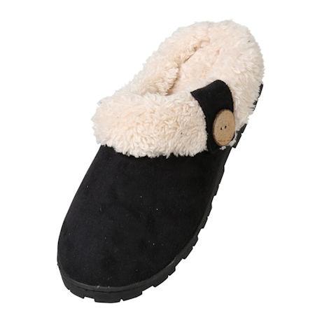 Avanti Womens Toasty Scuff Slipper - Indoor/Outdoor Microsuede Slides, Faux Fur