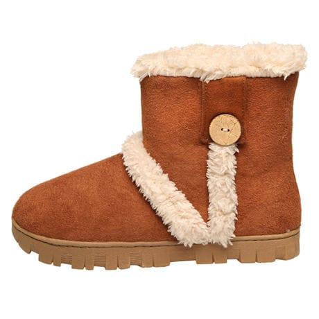 Avanti Ember Womens Slipper Boots - Indoor/Outdoor Microsuede Booties, Faux Fur