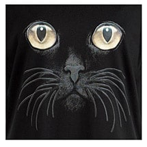 Cat Eyes Black Long Sleeve T Shirt