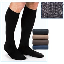 Jobst® Mens Opaque Wide Calf Firm Compression Graduated Compression Dress Socks