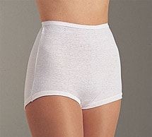 Cuff Leg Comfort Band Women's 100% Cotton Briefs Pack of 6 White