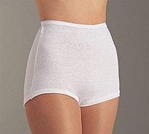 Cuff Leg Cotton Briefs 6 Pack White