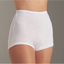 Cuff Leg Cotton Briefs 6 Pack White