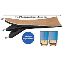 Pedifix Adjustable Heel Lift Shoe Insert