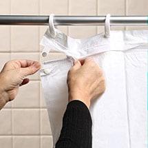 Zip N Clean Shower Curtain