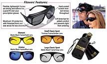 Classic Fitovers® Sun Glasses - Matte Black Frame