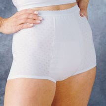 HealthDri Women's Heavy Absorbency Washable Cotton Brief