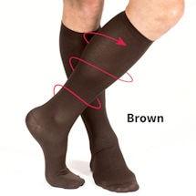 Support Plus® Men's Lightweight Nylon Moderate Compression Dress Socks