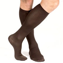 Support Plus® Men's Lightweight Nylon Moderate Compression Dress Socks