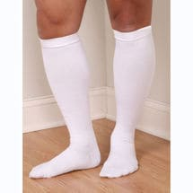 Support Plus® Mens Opaque Wide Calf Firm Compression Hydrotech Moisture Wicking Knee High Socks