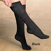 Support Plus™Mild Support Ladies Diamond Pattern Sock