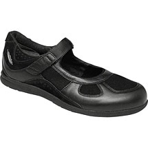 Drew® Delite For Women - Black Leather/Stretch