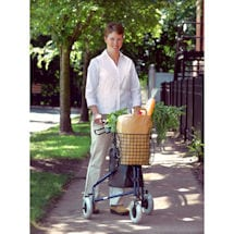 Deluxe 3-Wheel Rollator Walker with Basket & Pouch