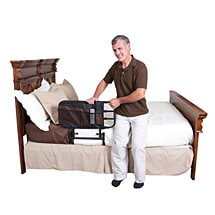 Ez Adjustable Bed Rail - Safety Hand Rails Pivot Down
