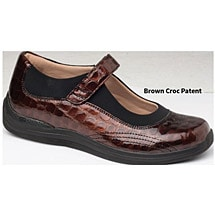 Drew® Rose Brown Croc Patent