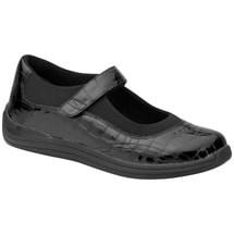 Drew®Rose Black Croc Patent Mary Jane