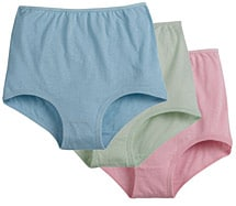 Cuff Leg Cotton Briefs 6 pack Pastels