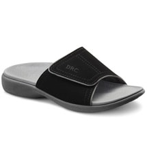 Dr. Comfort® Kelly Ortho Sandals: Black
