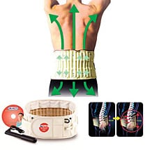 Hophysio Decompression Belt for Lower Back Pain & Support - Pump Inflatable Spinal Traction