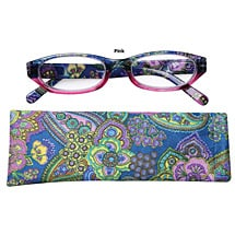 Paisley High Powered Reading Glasses with Spring Hinges for Women