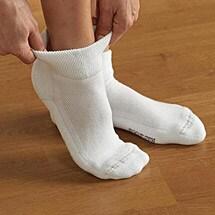 Foot Zen® Soft Rib Quarter Socks - Unisex