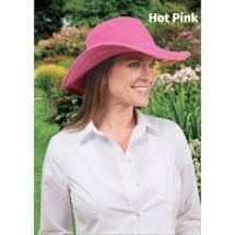 Crochet Wide Brim Sun Hat in Cotton with UPF 50+