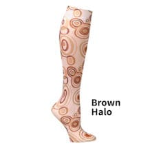 Printed Moderate Compression Knee Highs - Brown Halo