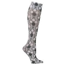 Printed Moderate Compression Knee Highs - Circles and Stripes